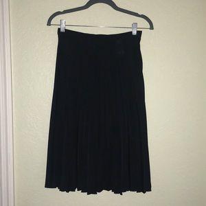 NWOT Michael Kors Navy Blue Pleated Skirt Size 2